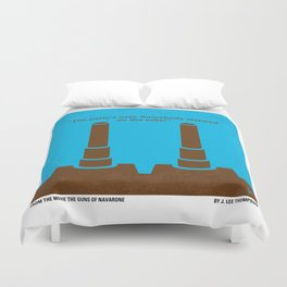 No168 My The Guns of Navarone minimal movie poster Duvet Cover