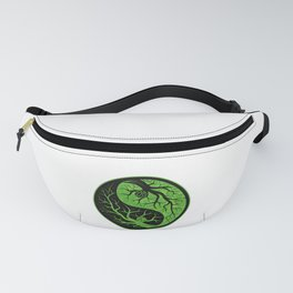 Mother Nature Yin and Yang Tree of Life Artistic Fanny Pack