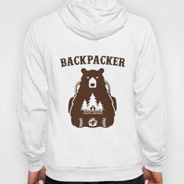 Backpacking Bear Funny Hiking Saying Gift For Hiker Camping Pun National Park Grand Canyon Appalachi Hoody