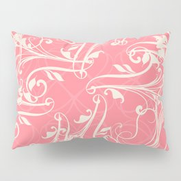 Pink swirls. Vector floral deisgn Pillow Sham