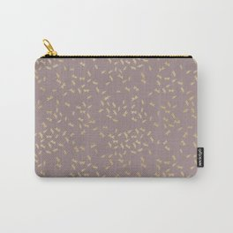 Dragonflies on purple - gold touch Carry-All Pouch