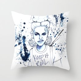 #STUKGIRL KYE (Keep it Real) Throw Pillow