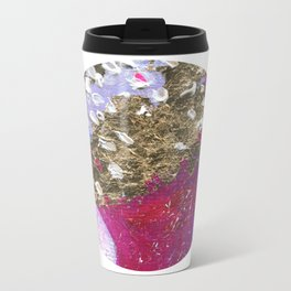 Abstraction World #1. Round version 4 Metal Travel Mug