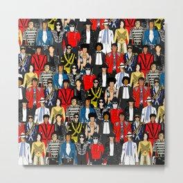 King MJ Pop Music Fashion LV Metal Print