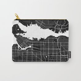 Vancouver - Minimalist City Map Carry-All Pouch