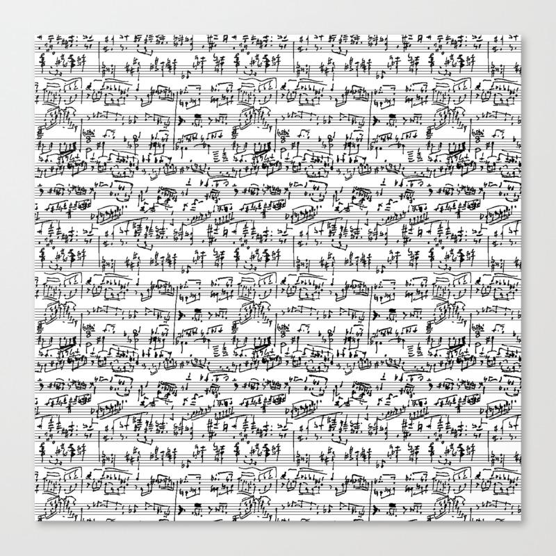 Hand Written Sheet Music Canvas Print