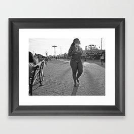 Nathan's Hot Dogs Framed Art Print