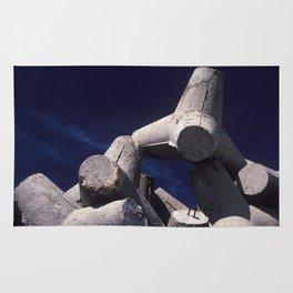 Concrete port attachment Rug