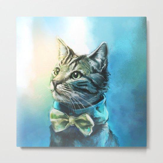 Handsome Cat Metal Print