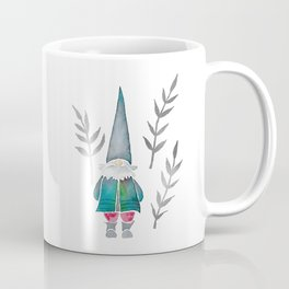Winter Gnome - Silver Leaves Coffee Mug