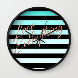 Love is Everything Blue Wall Clock