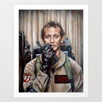 murray Art Prints featuring Bill Murray / Ghostbusters / Peter Venkman by Heather Buchanan