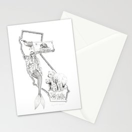 California Mermaid Stationery Cards
