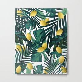 Tropical Lemon Twist Jungle #1 #tropical #decor #art #society6 Metal Print