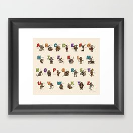 Animals & Instruments ABCs Framed Art Print
