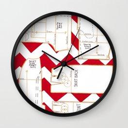 Seaside Stripes Slopers Wall Clock