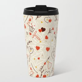 Valentines line art Travel Mug