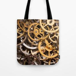 Cogwheels background Tote Bag