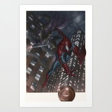 Spiderman vs Goblin Art Print