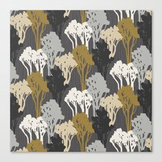 Arboreal Silhouettes - Golds & Silvers Canvas Print