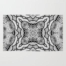 abstract jewel light gray Rug