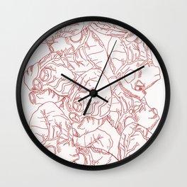 Heart Rain Wall Clock
