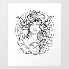 Zodiac Series | Taurus Art Print