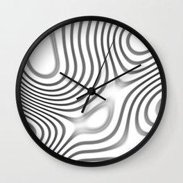 Organic Abstract 01 WHITE Wall Clock