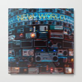 New World sound system Metal Print