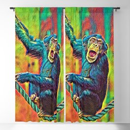 AnimalColor_Chimpanzee_007_by_JAMColors Blackout Curtain