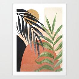 Abstract Tropical Art VI Art Print