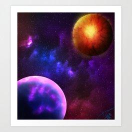 Cosmic Planets Art Print