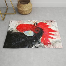 Rooster art #rooster #animals Rug