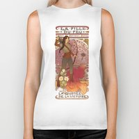 la Biker Tanks featuring La fille du feu by Megan Lara