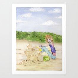Sand Castles - Oregon Coast Art Print