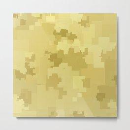 Custard Square Pixel Color Accent Metal Print