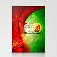 merry christmas Stationery Cards featuring Merry christmas by nicky2342