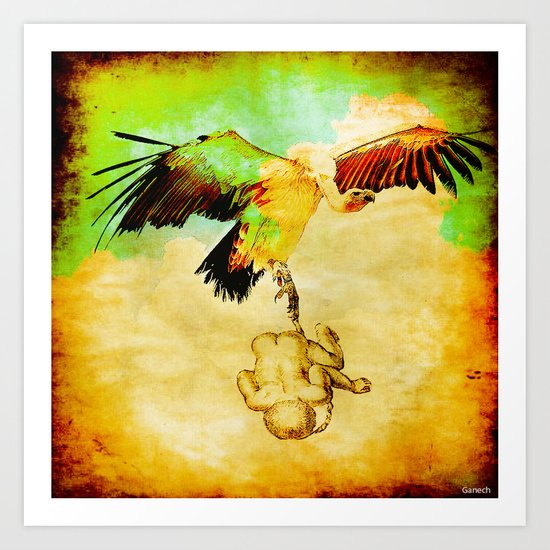 The stork was not available this day Art Print