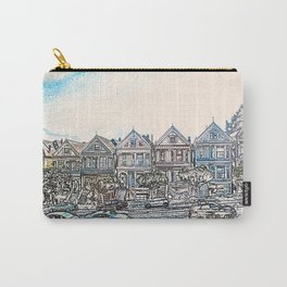 Painted Ladies houses san francisco artwork Carry-All Pouch