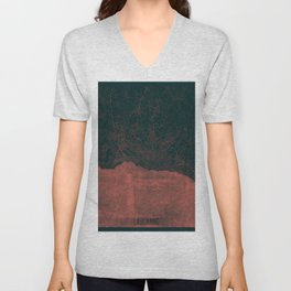Lausanne Map Red Unisex V-Neck