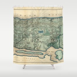 Egbert Viele 1865 Topographic Map of New York City Shower Curtain