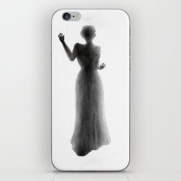 Untitled - charcoal drawing - female figure, spooky, atmospheric, ghostly iPhone Skin