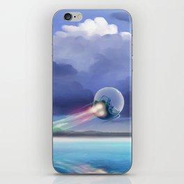 Cruising over the beach iPhone Skin