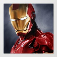 ironman Canvas Prints featuring IronMan by San Fernandez