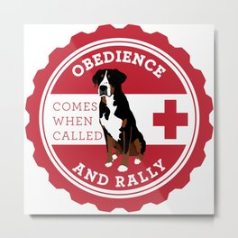 Obedience and Rally Badge Metal Print