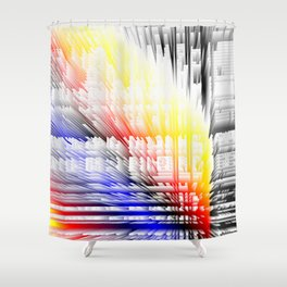 city color fabric Shower Curtain