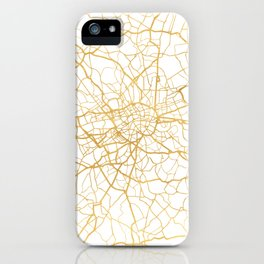 LONDON ENGLAND CITY STREET MAP ART iPhone Case