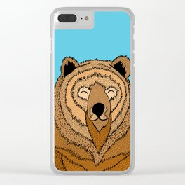 The Happy Bear Clear iPhone Case