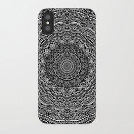 Zen Black and white mandala Sophisticated ornament iPhone Case