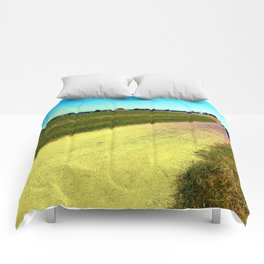 Lonely countryside gravel road Comforters
